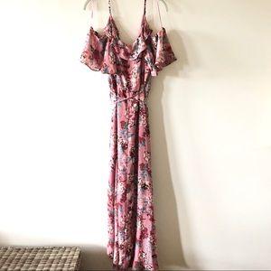 Chelsea28 Cold Shoulder Wrap Dress